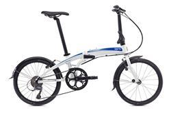 Bicicleta Tern Verge N8 Blanco Celeste