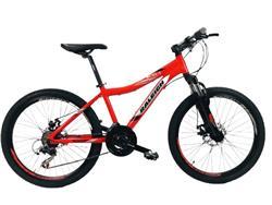 Bicicleta Raleigh MTB Scout Rodado 24 Negra Rojo