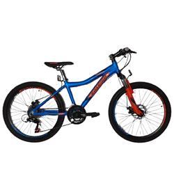 Bicicleta Raleigh MTB Scout Rodado 24 AZUL Naranja Negra
