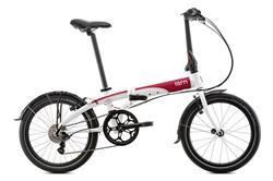 Bicicleta Tern Link D8 Blanco & Rojo & Gris