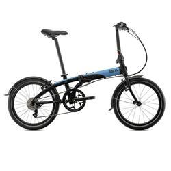 Bicicleta Tern Link D8 negro & azul & gris