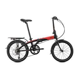 Bicicleta Tern Link D8 negro & rojo & gris Portaquete y SRAM