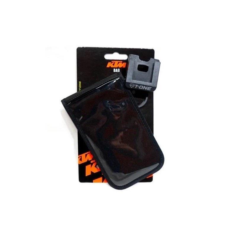 Bolso KTM Porta celular Negro 9 x 13 cm