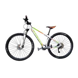 Bicicleta Raleigh Mojave 5.5 Rodado 27.5 Blanca con Verde y Naranja Talle 21