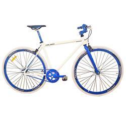 Bicicleta Fix 700 Aluminio Blanca Azul
