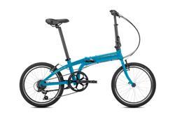 Bicicleta Tern Link A7 Blue Silver Guardabarros y Portapaquete