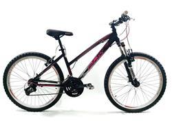 Bicicleta MTB Firebird Rodado 26 Talle 18 21V Dama Negro Fucsia