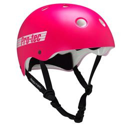 Casco Protec The Classic Satin Pink Retro Talle L
