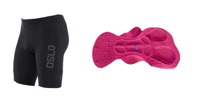 Calza Corta Oslo Negra con Badana 3D Talle XXL
