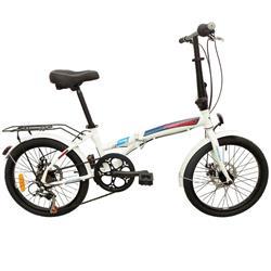 Bicicleta Firebird Plegable Blanca con Azul Freno a DISCO