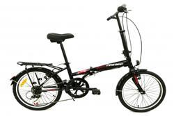 Bicicleta Firebird Plegable Negra con Rojo