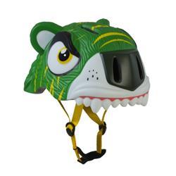 Casco Crazy Tiger Green con Luz (XS) (S)