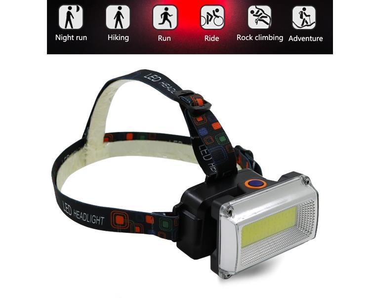 Luz Farol LED COB 10W Recargable USB Manubrio o Minero