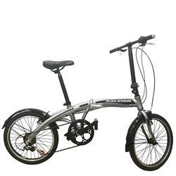 Bicicleta Plegable Raleigh Curve Gris con Negro