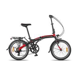 Bicicleta Aurora Folding SMART BK Negro Rojo