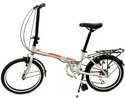 Bicicleta Raleigh Plegable Straight Gris Naranja