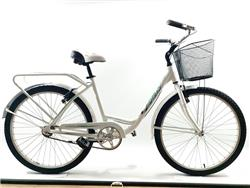 Bicicleta Paseo Lady Tour City Aluminio Blanca con Verde Agua by TB