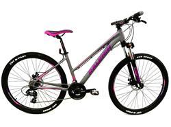 Bicicleta Raleigh Mojave 2.0 R27.5 DAMA GRIS con ROSA Talle 14