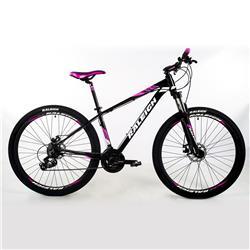 Bicicleta Raleigh Mojave 2.0 R29 Negro Blanco ROSA Talle 15