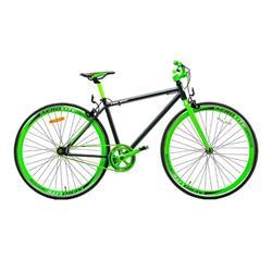 Bicicleta Fix 700 Aluminio Negro Verde