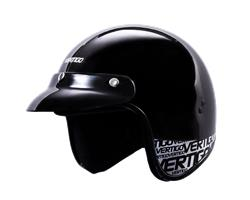 Casco Moto Abierto Vertigo V10 BASIC Negro Metalizado TALLE L