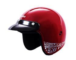 Casco Moto Abierto Vertigo V10 BASIC ROJO Metalizado TALLE M