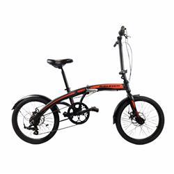 Bicicleta Plegable Raleigh Curve Negro con Rojo