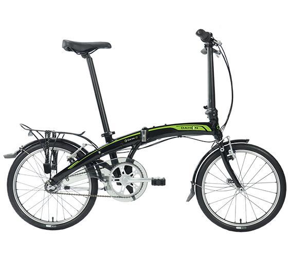 Bicicleta Dahon CURVE I3 Negro Verde