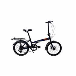 Bicicleta Raleigh Plegable Straight Negro Azul Naranja