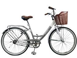 Bicicleta Stark Lady Rod 26 Gris Con Blanco