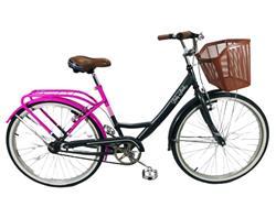 Bicicleta Stark Lady Rod 26 Gris Con Fucsia