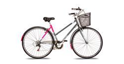 Bicicleta Stark Antoniette Rod 28 Dama 7v Shimano Gris con Rosa