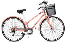 Bicicleta Stark Antoniette Rod 28 Dama 7v Shimano Salmon con Blanco