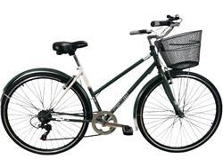 Bicicleta Stark Antoniette Rod 28 Dama 7v Shimano Verde Blanco
